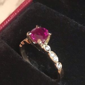 Other - Stunning natural ruby 18k gold with diamonds!!